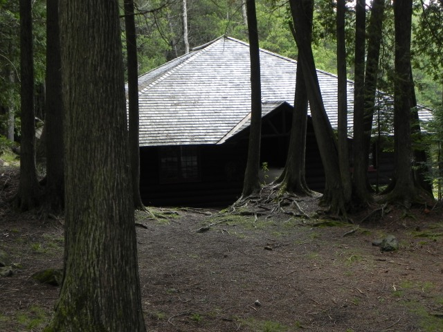 The Main Camp boat house.