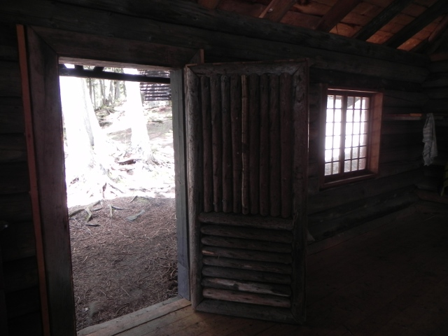 Door into the Santanoni boat house.