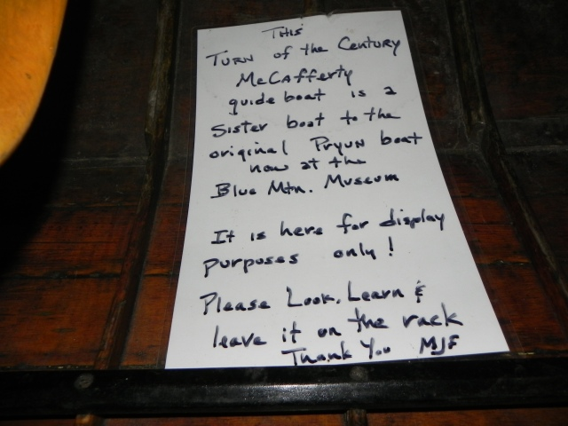 Explanation for McCafferty guide boat.