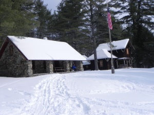 The creamery and farm manager's home at the Santanoni farm.