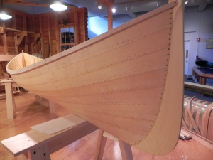 Allison's reproduction of a Warren Cole guideboat built in 1905.