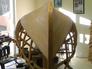 Hull after round 5 of planking was hung.