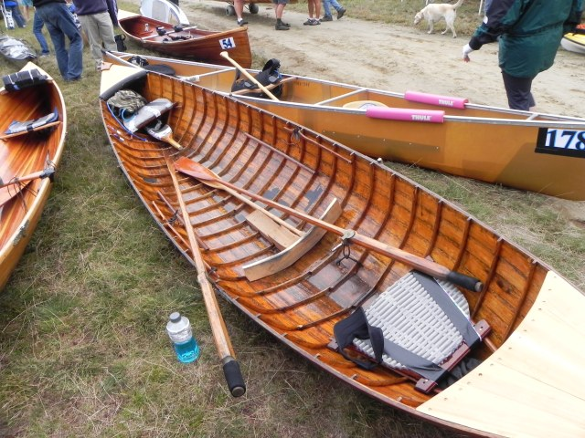 This is a guideboat outfitted for the race.