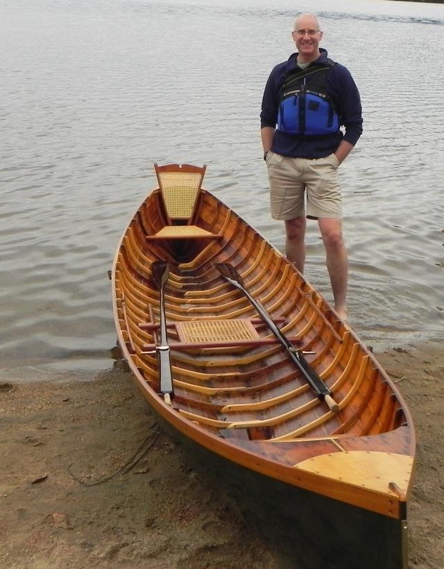 Paul with his restored Chase guideboat.