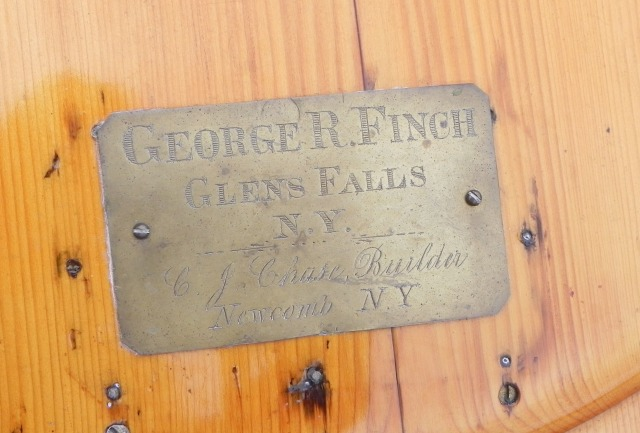 Plaque on Bill Seiler's Chase boat