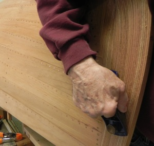 Shaping stem with block plane