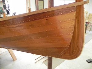 Hull after two coats of varnish