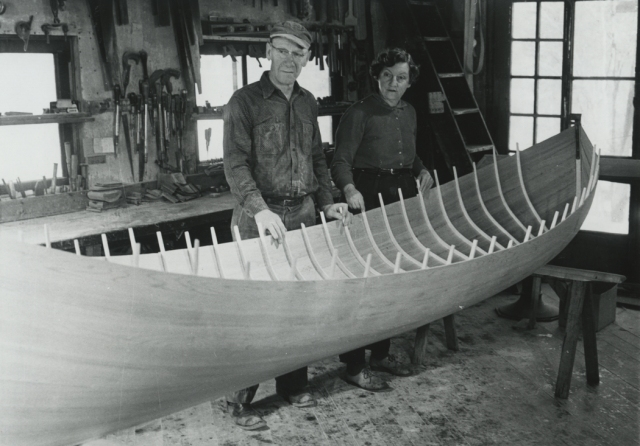 Willard and Pauline Hanmer.  Photo courtesy of the Adirondack Museum.