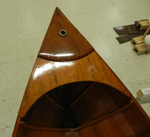 The bow of the Chase boat.