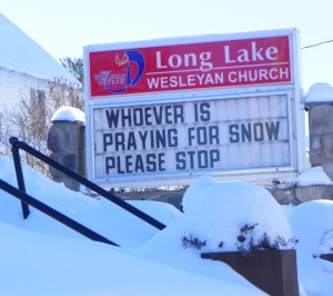 Sign at Long Lake church