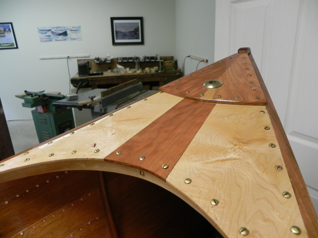 Finished bow deck.