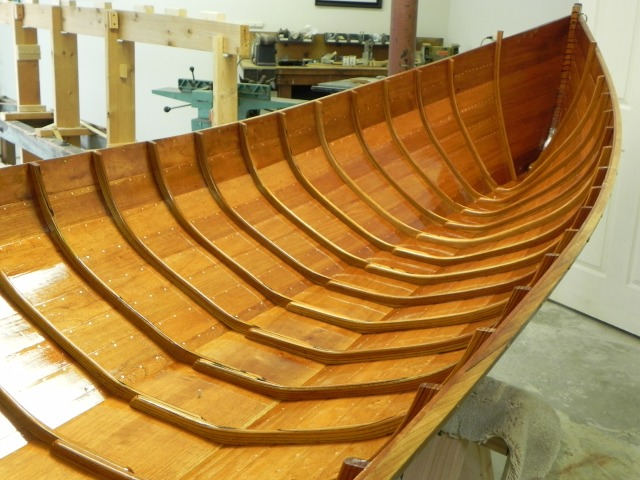 Hull after fifth coat of varnish.
