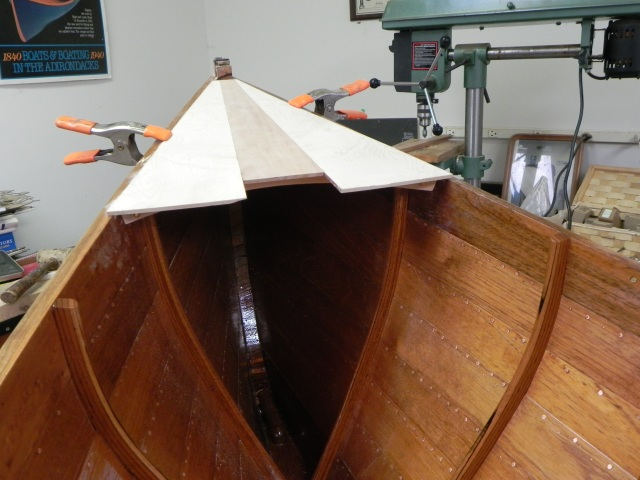Partially finished stern deck.