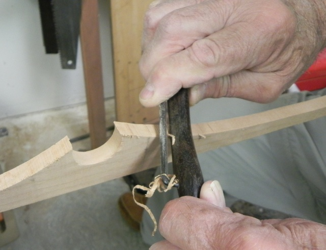 Shaping the yoke cleat.