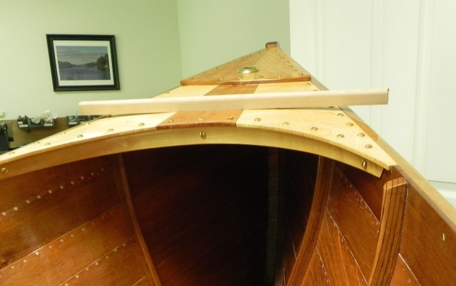 Curvature of the bow deck.
