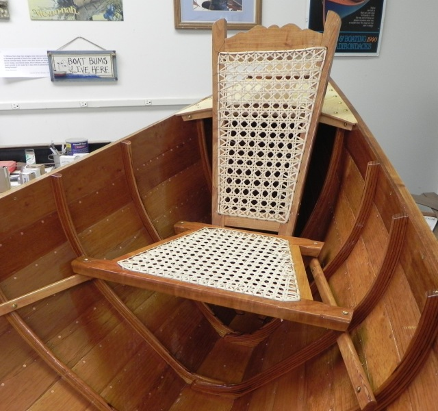 Finished stern seat.