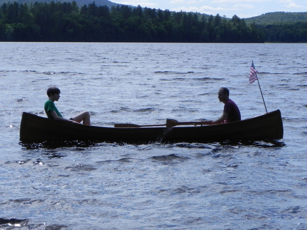 Building An Adirondack Guideboat The Launch Of The