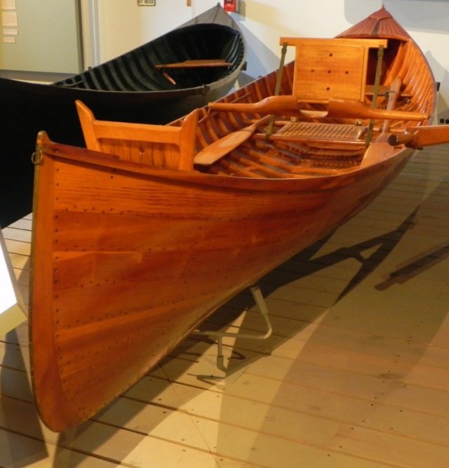 Hanmer Guideboat at the Adirondack Museum.