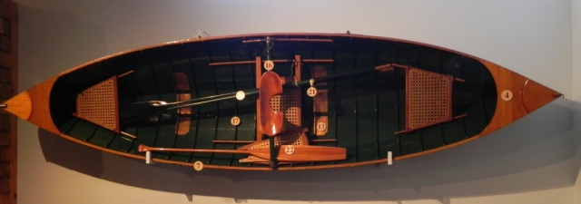 A Raider guideboat built by John Blanchard of Raquette lake in 1935
