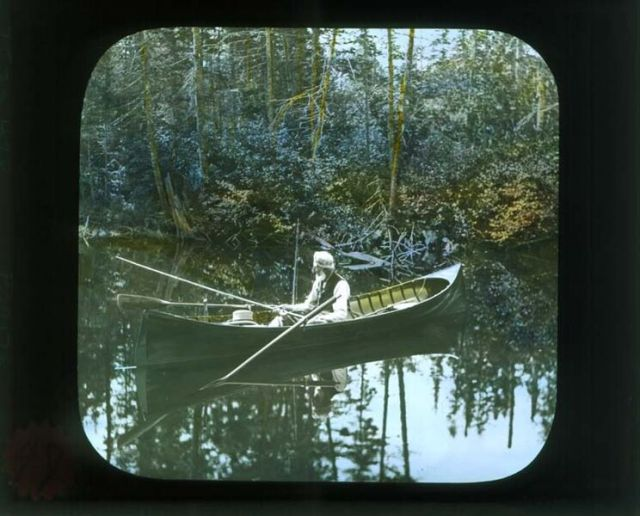 Guide Alvah Dunning in his Raider guideboat.