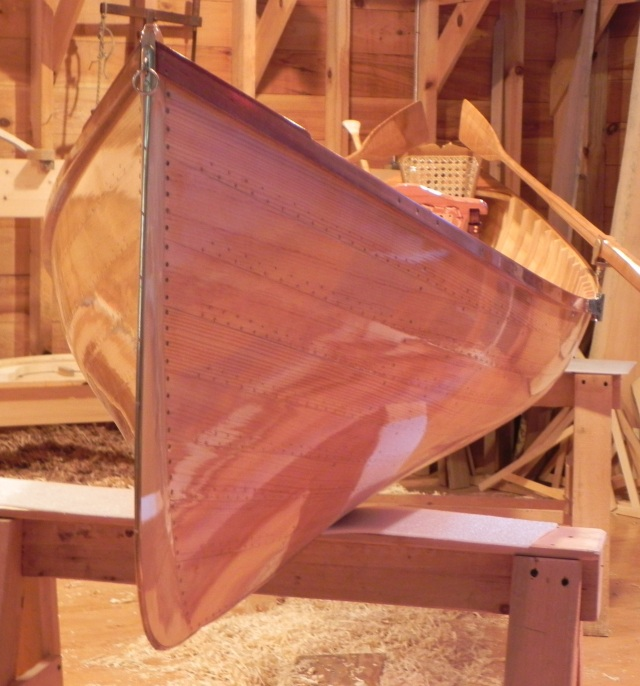 Reproduction of guideboat originally built by Warren Cole in 1905.