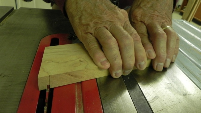 Cutting a dado in the seat stiles.