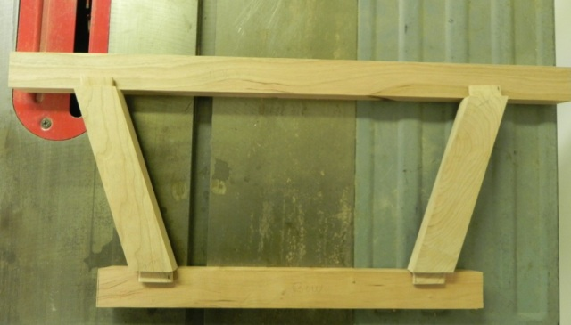 The tenons are aligned to be square to the rails.