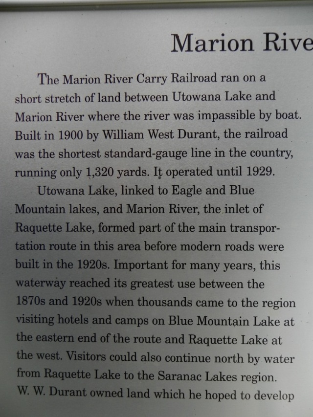 Explanation of Marion River carry.