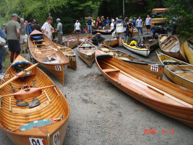 Boats and boaters getting ready for launching.